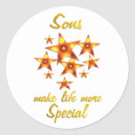 Sons are Special Round Sticker