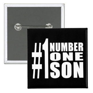 Sons Birthdays Gifts : Number One Son Pinback Buttons