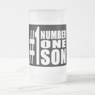 Sons Birthdays Gifts : Number One Son Frosted Glass Beer Mug