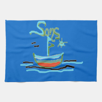 Sons Design by Carole Tomlinson Towel