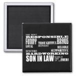 Sons in Law Weddings Birthdays Parties : Qualities 2 Inch Square Magnet