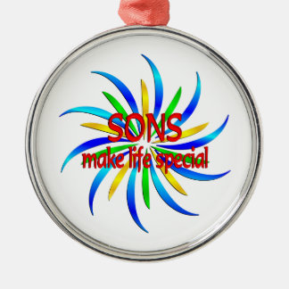 Sons Make Life Special Metal Ornament