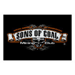 SONS OF COAL MINING CLUB POSTER