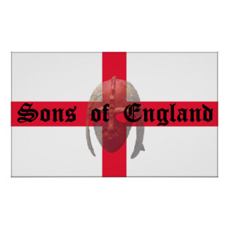 Sons of England  Anglo Saxon helmet Poster