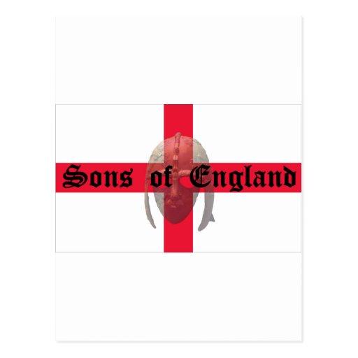 Sons of England text Saxon Helmet Postcard