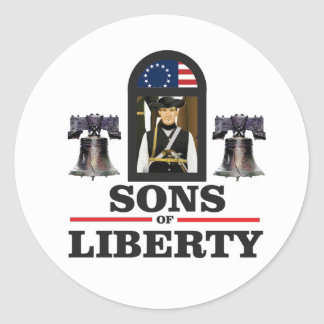 sons of liberty art classic round sticker