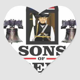 sons of liberty art heart sticker