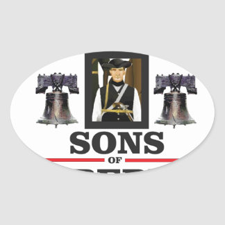 sons of liberty art oval sticker
