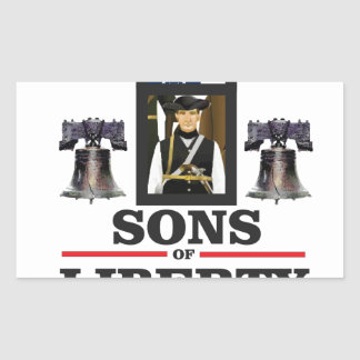 sons of liberty art rectangular sticker