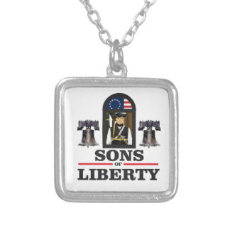 sons of liberty art silver plated necklace