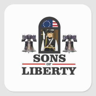 sons of liberty art square sticker