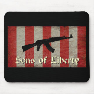 Sons of Liberty Flag with AK 47 Mouse Pad