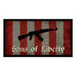 Sons of Liberty Flag with AK 47 Posters