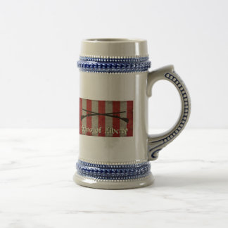 Sons of Liberty Flag with Two Muskets Beer Stein