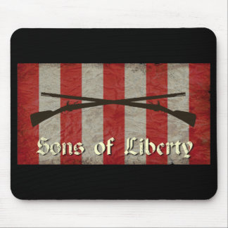 Sons of Liberty Flag with Two Muskets Mouse Pad