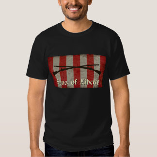 Sons of Liberty Flag with Two Muskets Tee Shirt