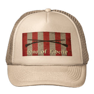 Sons of Liberty Flag with Two Muskets Trucker Hat