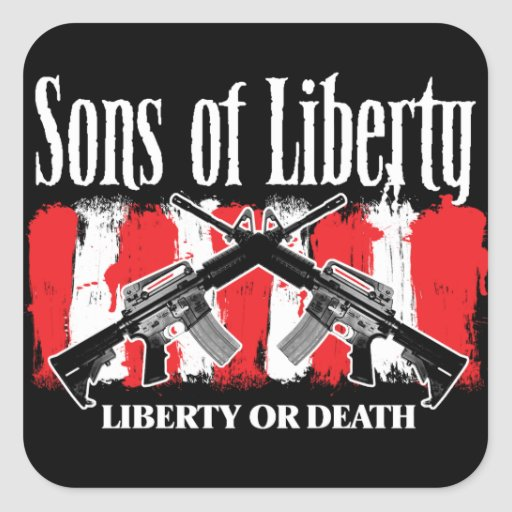 Sons of Liberty LIBERTY OR DEATH stickers