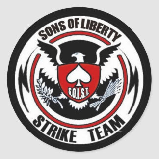 Sons Of Liberty Strike Team Classic Round Sticker
