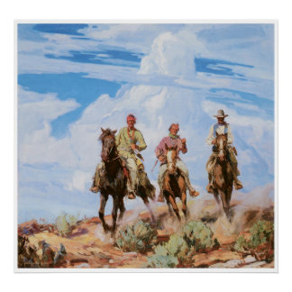 Sons of the Desert, American West Painting Print