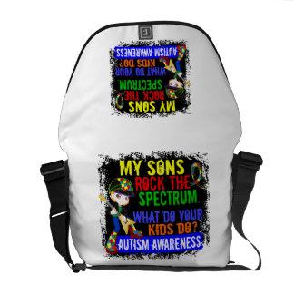 Sons Rock The Spectrum Autism Messenger Bag