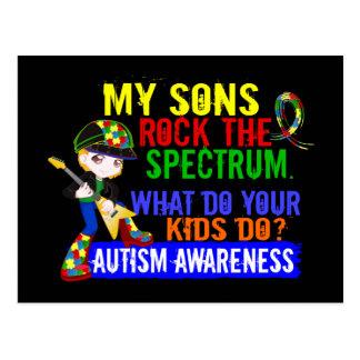 Sons Rock The Spectrum Autism Postcard