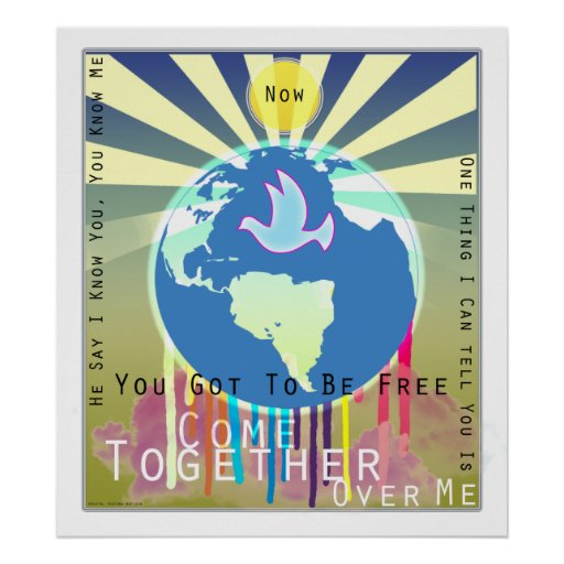 """Sony ATV """"Come Together"""" Peace Poster"""