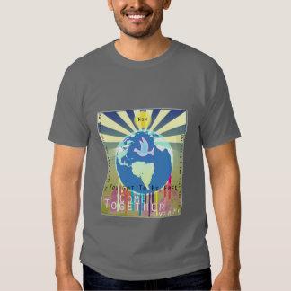 """Sony ATV """"viene junto"""" camiseta de la paz de mundo Playeras"""