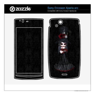 Sony Ericsson Xperia Arc Steampunk Goth Girl Skin Xperia Arc Skins