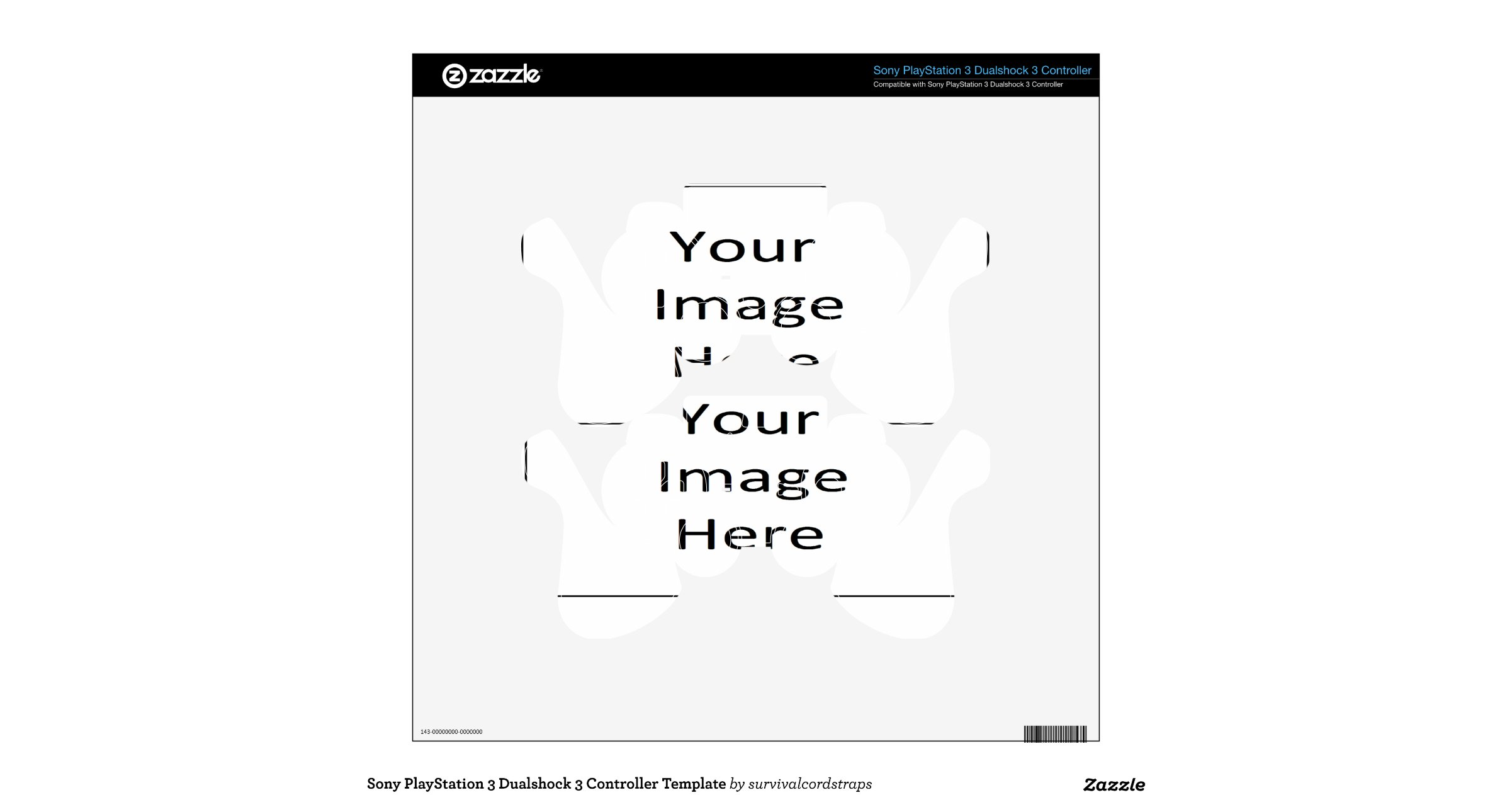 Sony PlayStation 3 Dualshock 3 Controller Template PS3