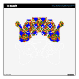 Sony Playstation 3 Psychedelic Control Skin PS3 Controller Skins