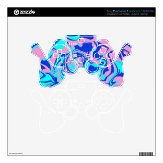 Sony Playstation 3 Psychedelic Controller Skin PS3 Controller Decals