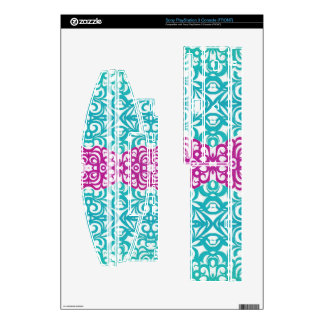 Sony PlayStation Skin Floral abstract background Skin For The PS3