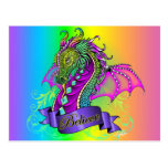 """Sonya"" Believe Fairy Rainbow Dragon Postcard"