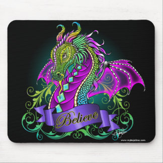 Sonya Believe Rainbow Dragon Mousepad