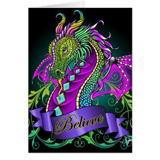"""Sonya"" Rainbow Believe Dragon Art Card"