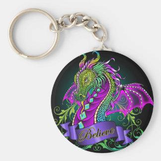 """Sonya"" Rainbow Believe Dragon Art Keychain"
