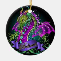 sonya, believe, dragon, rainbow, art, fairy, faerie, fantasy, myka, jelina, mika, faeries, nymphs, sprites, Ornament with custom graphic design