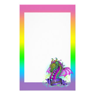 """Sonya"" Rainbow Believe Dragon Art Stationery"