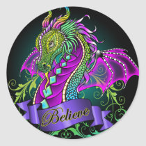 rainbow, dragon, sonya, myka, jelina, believe, fantasy, fairy, faerie, faery, art, Sticker with custom graphic design