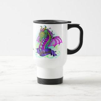 """Sonya"" Rainbow Believe Dragon Art Travel Mug"