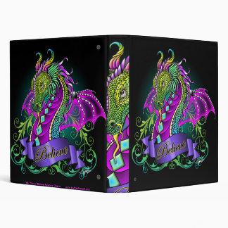 """Sonya"" Rainbow Believe Dragon Avery Binder"