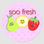 soo fresh classic round sticker
