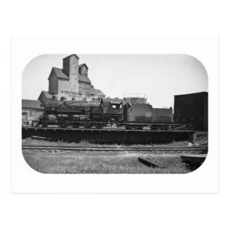 Soo Line Engine at Manitowoc Postcard