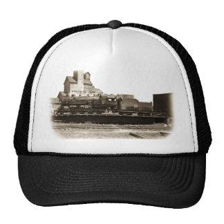 Soo Line Locomotive at Manitowoc on Turntable Trucker Hat
