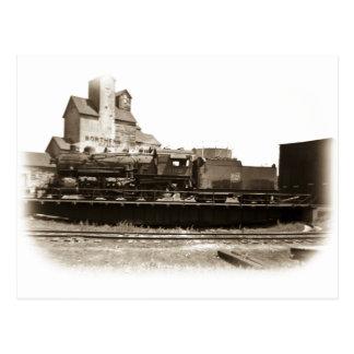 Soo Line Locomotive at Manitowoc on Turntable Postcard