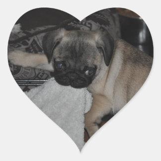 Sooled design Our little puppy Heart Sticker