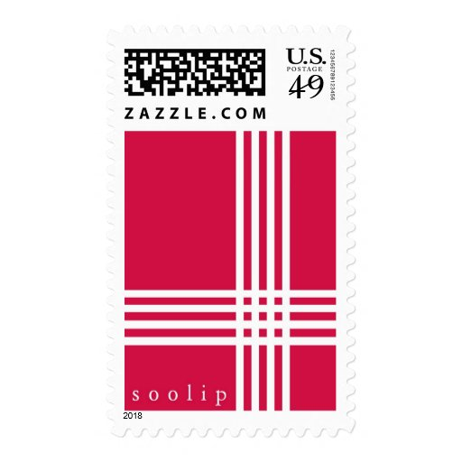 Soolip wishes you a plaid Happy Holidays Stamp