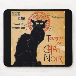 """""""Soon and the Black Cat Tour by Rodolphe Salis"""" Mouse Pad"""