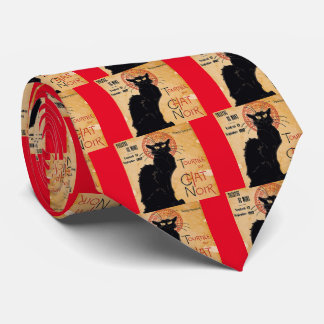 """""""Soon and the Black Cat Tour by Rodolphe Salis"""" Neck Tie"""